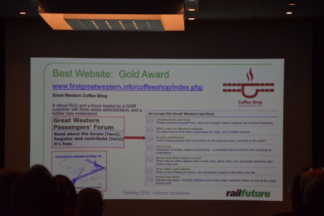 10th November 2018 Railfuture National Conference Reading